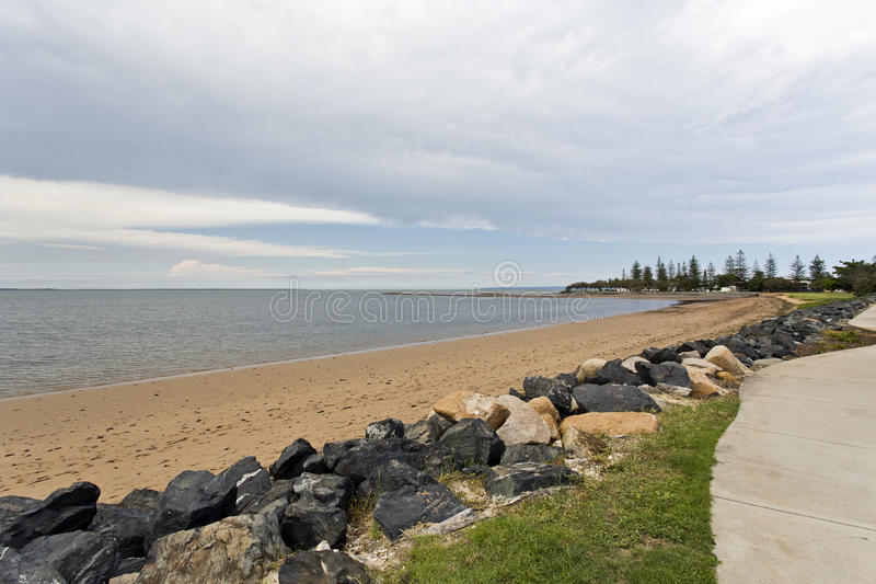 Scarborough-Strand lizenzfreies stockbild