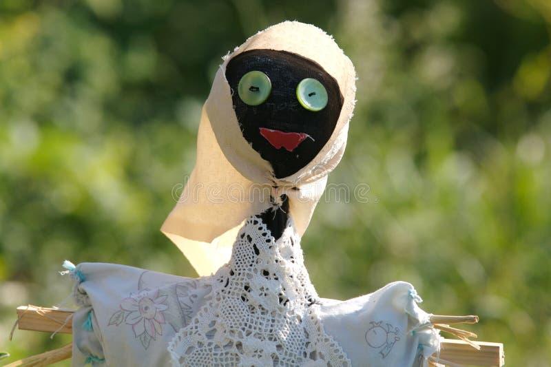 Little scarecrow stock image