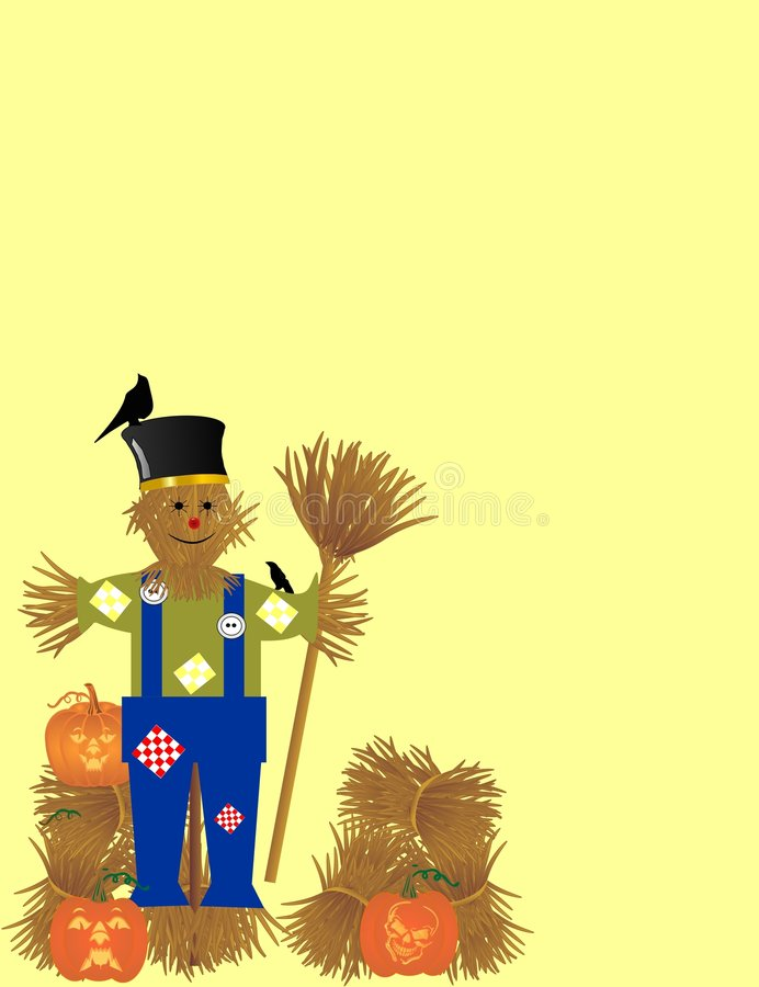 Free Scarecrow And Pumpkins Harvest Royalty Free Stock Photos - 8728628