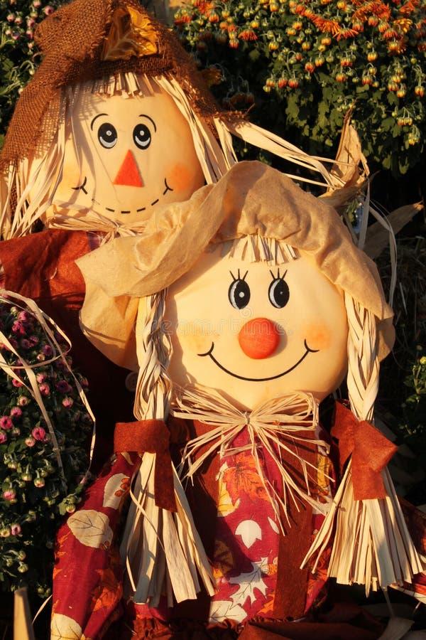 Scarecrow couple royalty free stock image