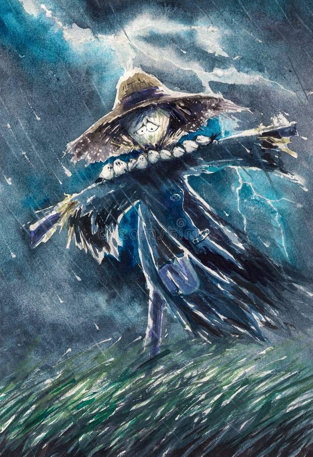 Scarecrow vector illustration