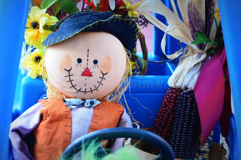 Scarecrow Driving Childs Car royalty free stock photography