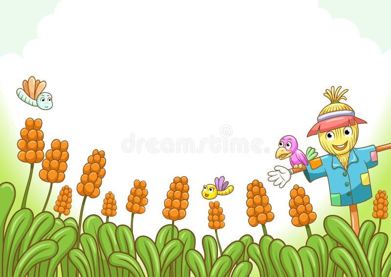 Download Scarecrow stock vector. Image of blank, harvest, crop - 30789606
