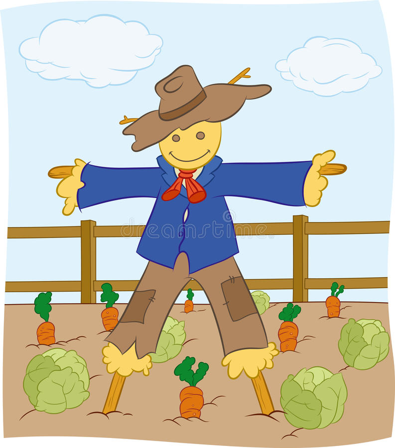 Scarecrow royalty free illustration