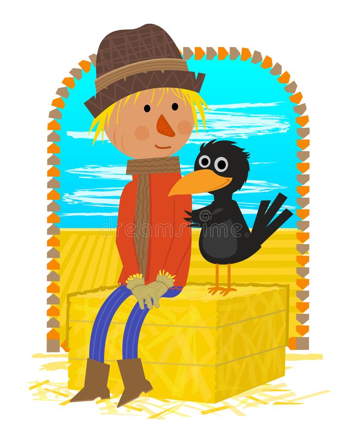 Scarecrow With Friend stock image