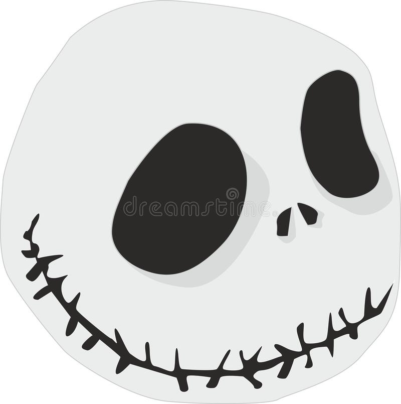 Scarecrow. The illustration shows a stuffed gray for Halloween stock illustration