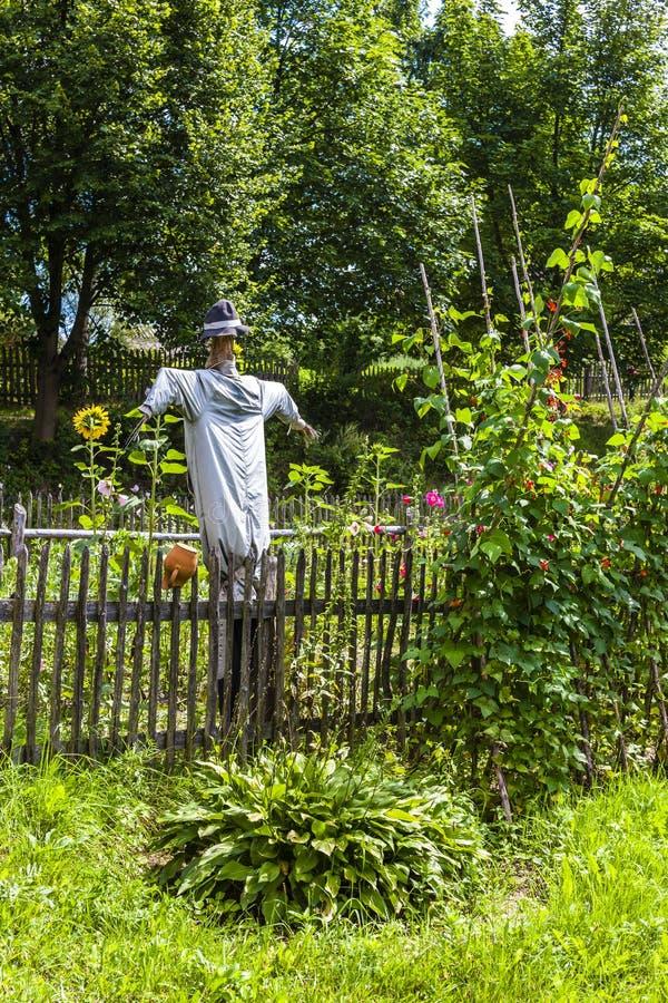 Scarecrow, Kaszubski ethnographic park in Wdzydzki Park Krajobra. Zowy, Pomerania, Poland, outdoors, outside, exteriors, europe, eastern, pomeranian, scanzen stock images