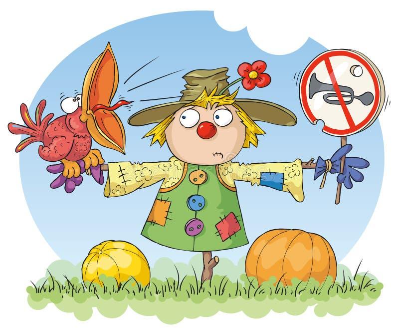 Scarecrow: Noise Prohibited royalty free illustration