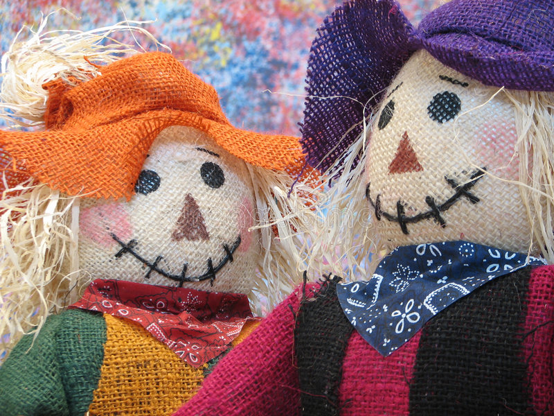 Scarecrows royalty free stock image