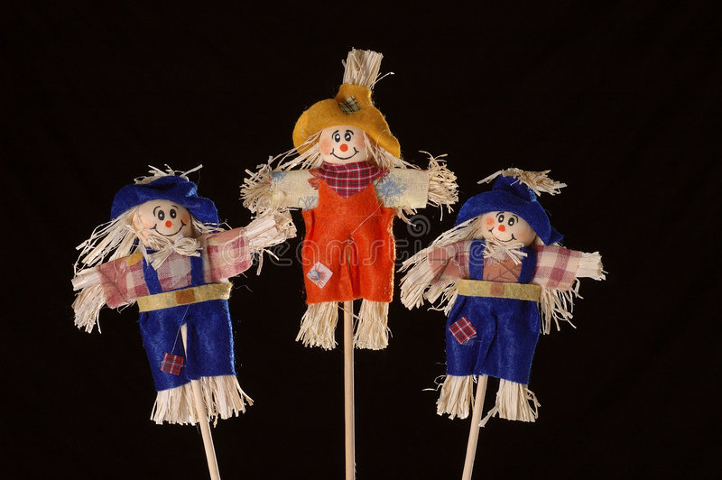 Download Scarecrows stock photo. Image of agriculture, season, cheerful - 3210818