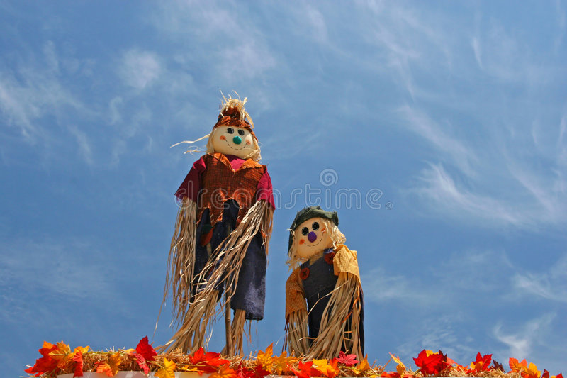 Download Scarecrows in the Sky stock image. Image of background - 115045