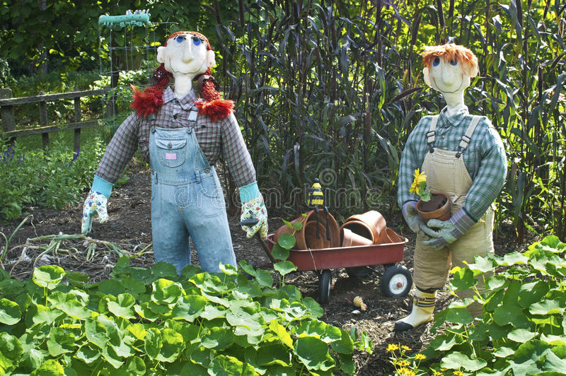 Download Scarecrows and Wagon stock photo. Image of scarecrow - 26633204
