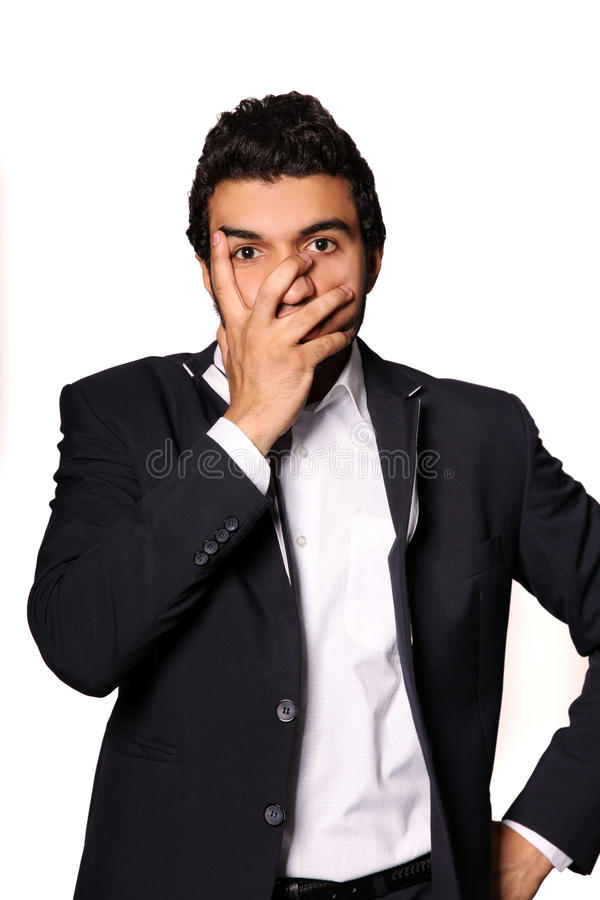 Download Scared stock photo. Image of intelligent, afraid, chin - 26032292