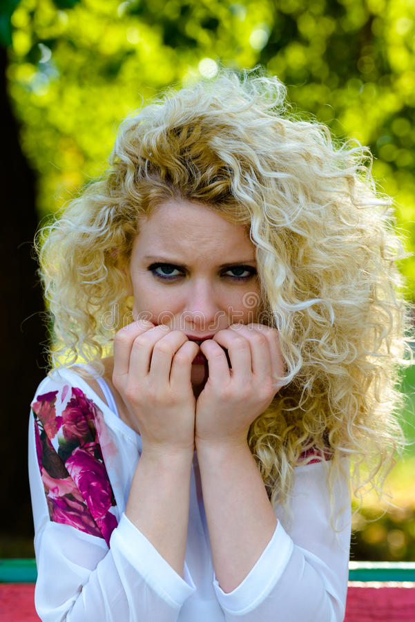 Download Scared stock image. Image of elegance, beauty, hairstyle - 34475063