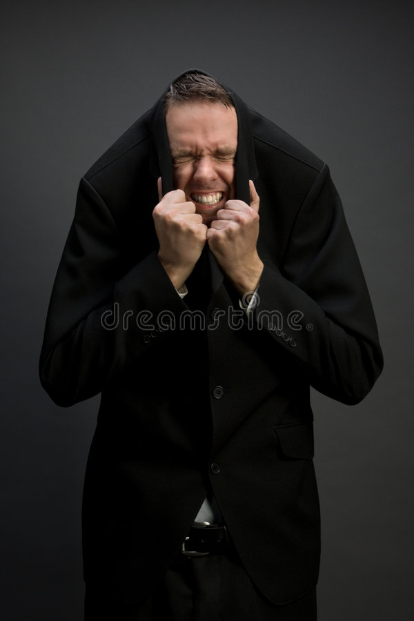 Download Scared businessman stock photo. Image of gray, disaster - 5359060
