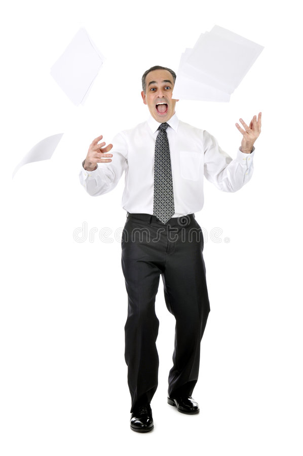 Download Scared businessman stock photo. Image of frustrated, astonished - 8293854