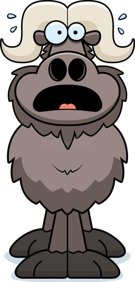Scared Cartoon Ox royalty free illustration