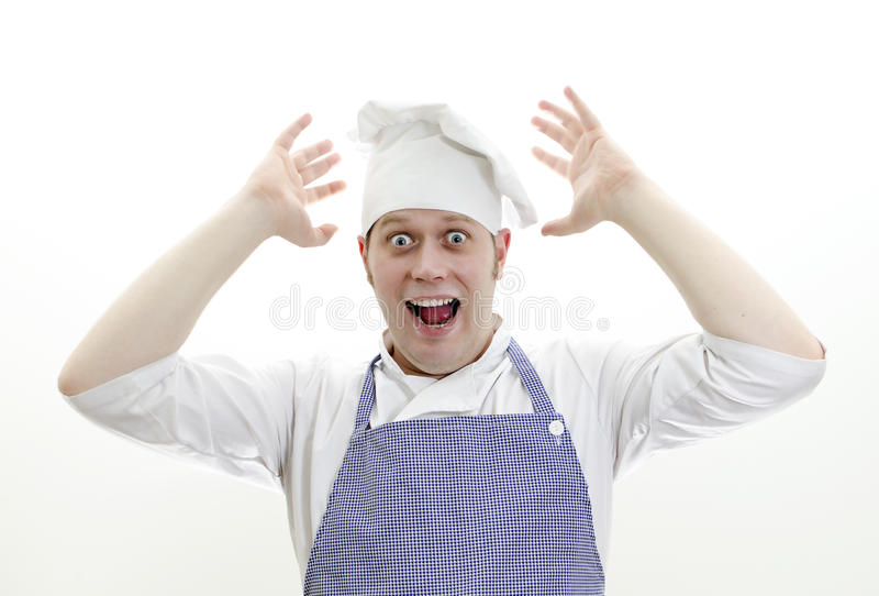 Download Scared chief cook stock photo. Image of abused, person - 22525726
