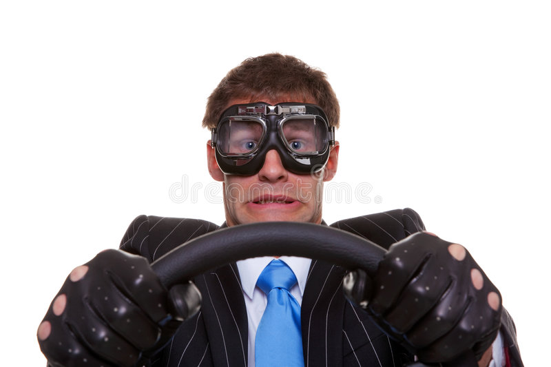 Scared driver royalty free stock photo