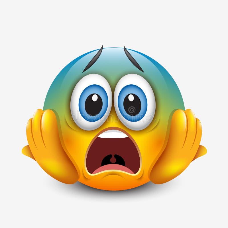Free Scared Emoticon Holding Head, Emoji, Smiley - Vector Illustration Stock Photography - 96990772