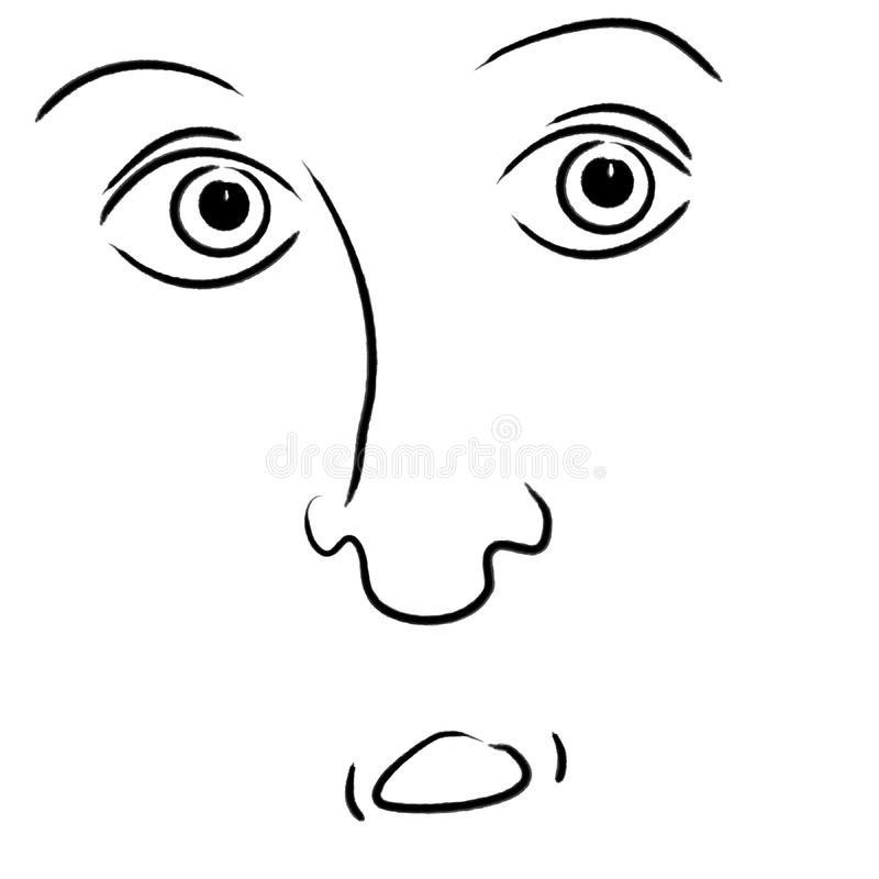 Scared Facial Expression Stock Image