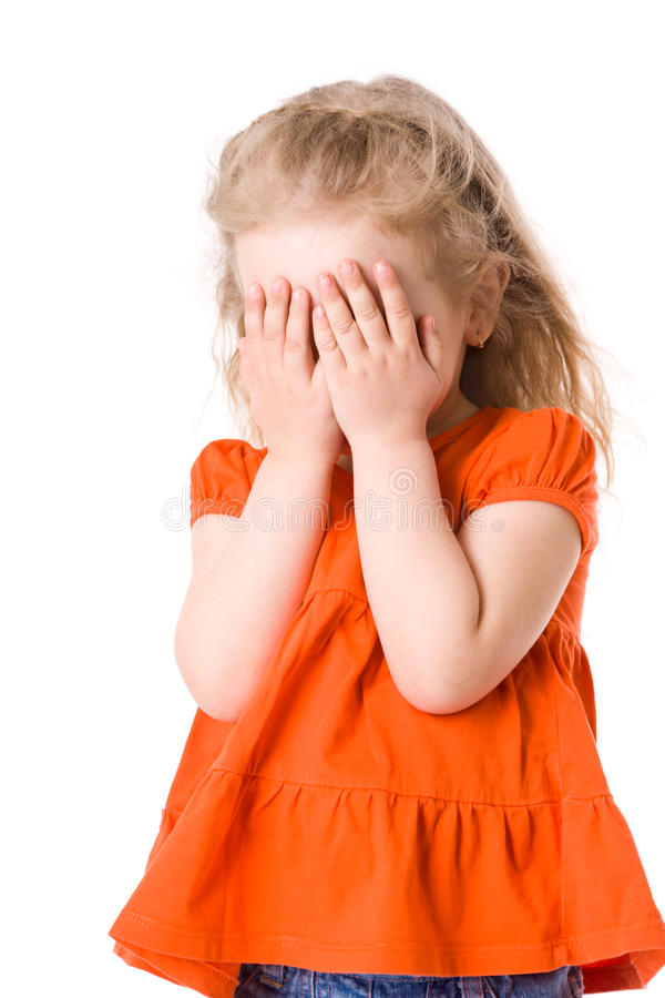 Download Scared girl stock image. Image of child, abuse, covered - 10676569