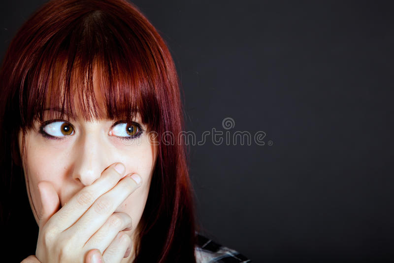 Scared girl royalty free stock photos
