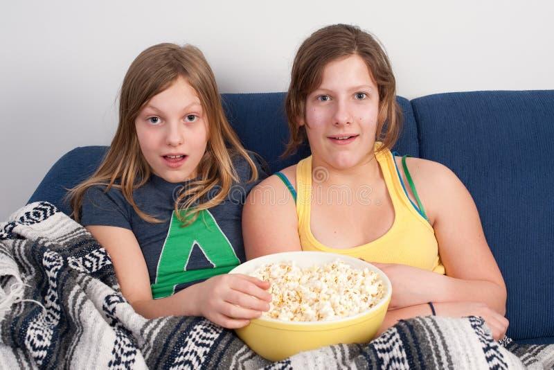 Scared girls stock photos