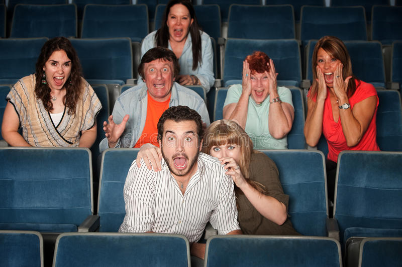 Download Scared Group stock image. Image of audience, hide, behind - 22752147