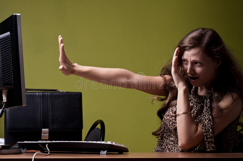 Download Scared lady stock image. Image of astonished, female - 10862527
