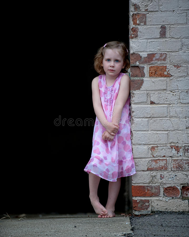 Scared Little Girl royalty free stock photography