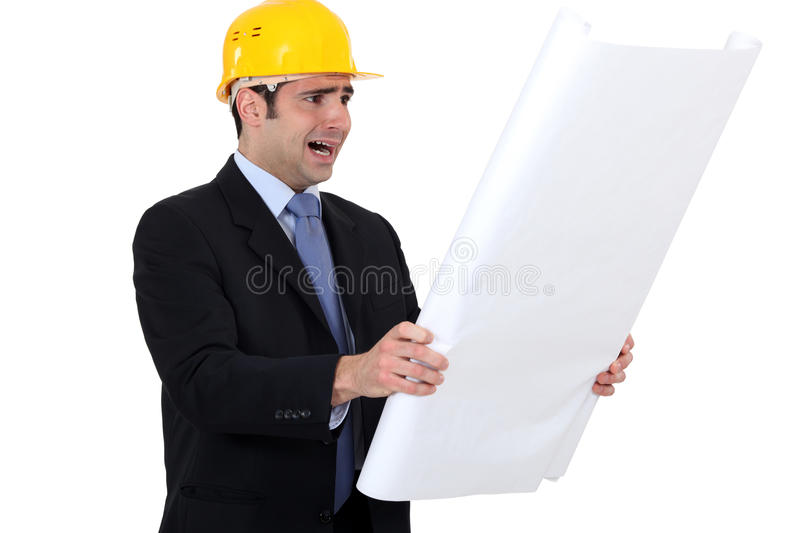 Download Scared looking architect stock photo. Image of architect - 28296324
