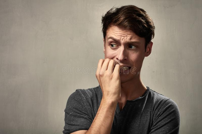 Scared man face. royalty free stock photos