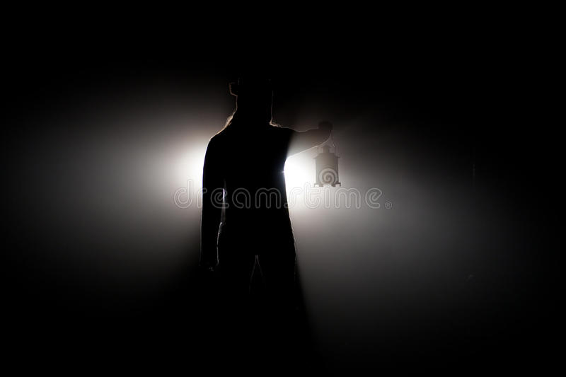Scared at Night royalty free stock photography