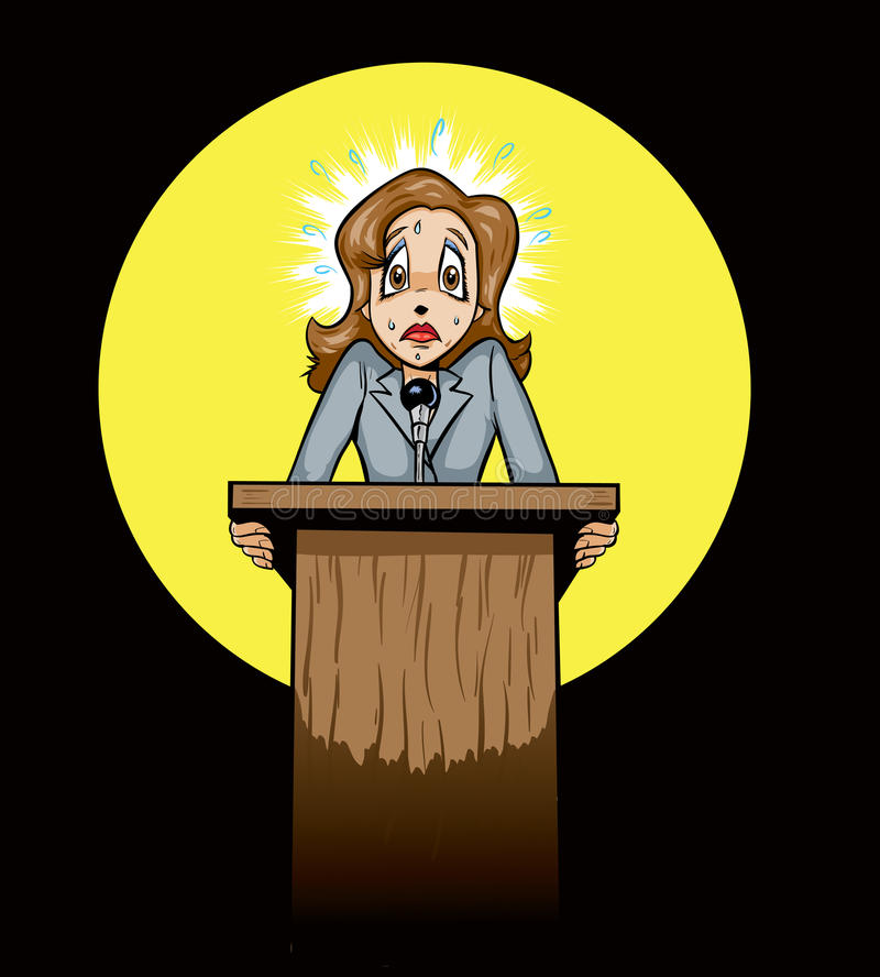 Download Scared Public Speaker/politician Royalty Free Stock Image - Image: 23687726