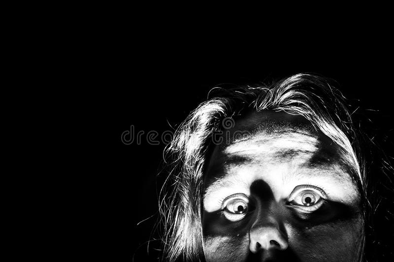 Scared Woman royalty free stock photo