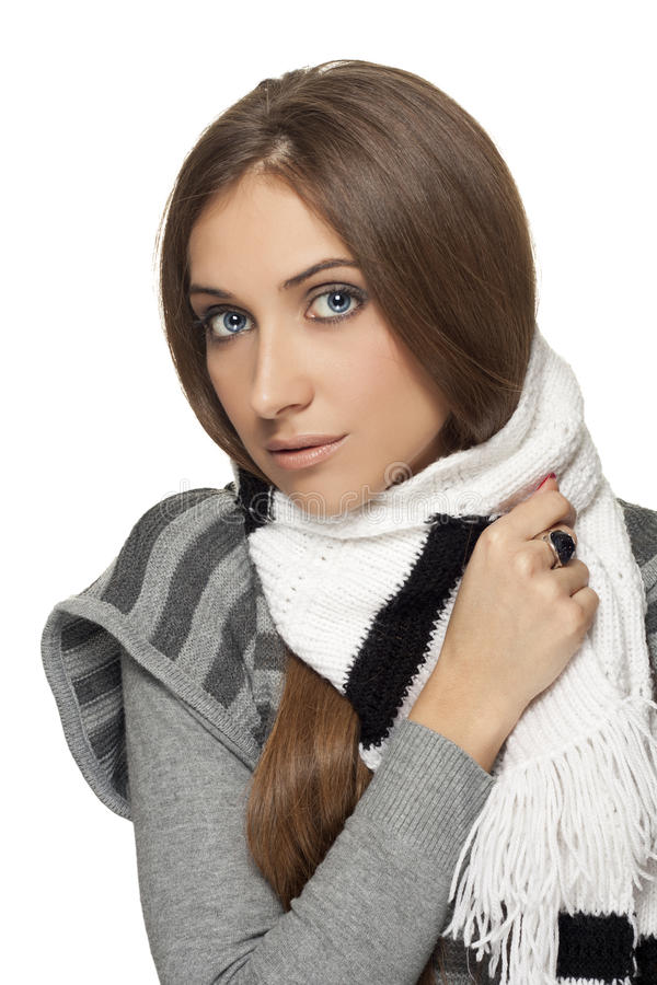 Download Scarf stock photo. Image of caucasian, girl, adult, fashion - 22011390
