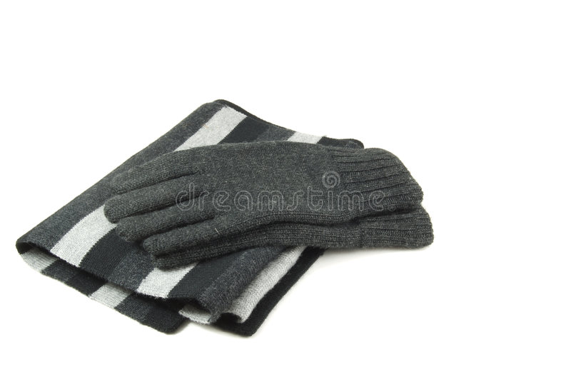 Download Scarf and Gloves stock image. Image of black, casual, gray - 3699335