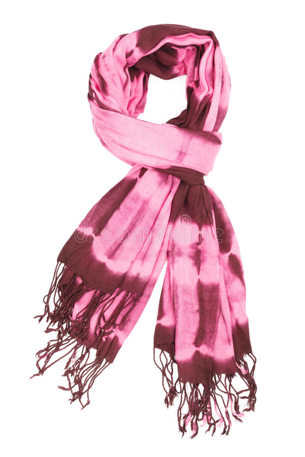 Free а Scarf Lilac With An Abstract Pattern, Isolated, On A White Background Royalty Free Stock Photography - 40952617