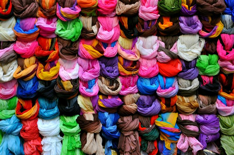 Download Scarf market in Italy stock image. Image of fashion, colors - 15906039