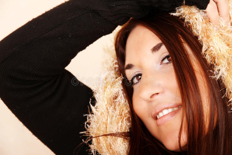 Scarf Portrait Stock Images