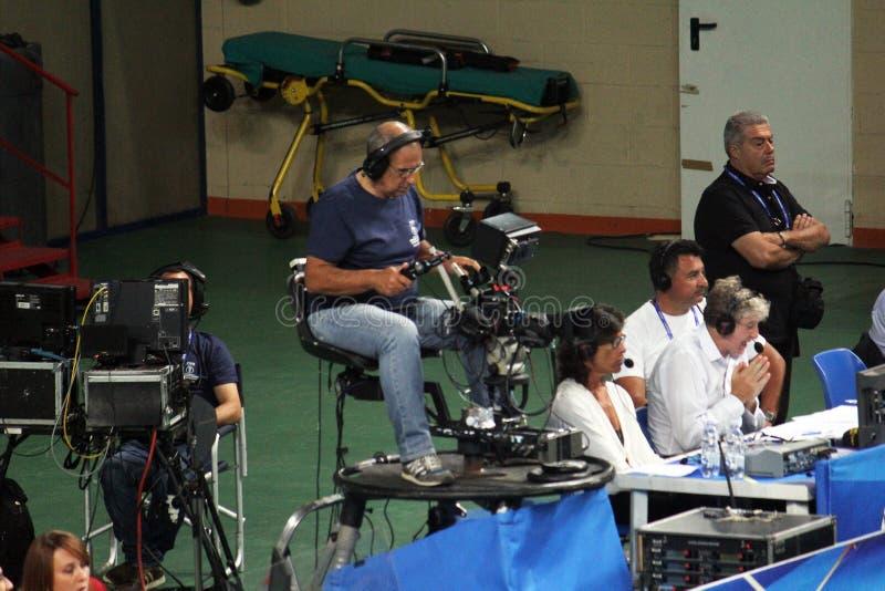 Scarica TV fotografia stock