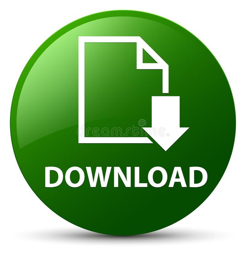 Scarichi il bottone rotondo di verde (dell'icona del documento) illustrazione vettoriale