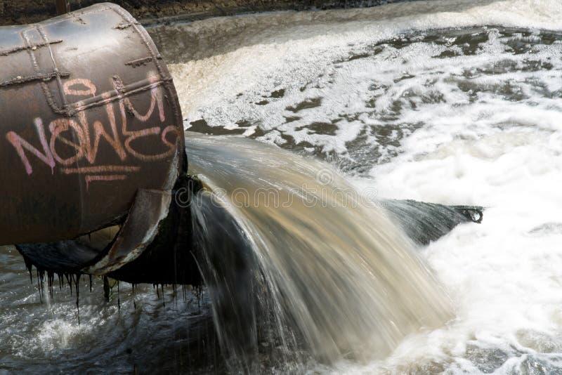 Scarico di acque luride fotografie stock