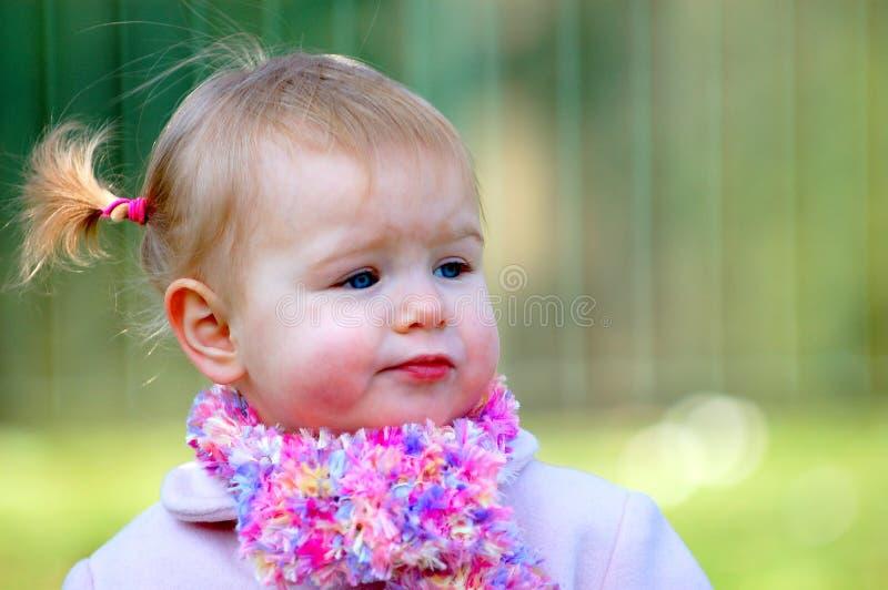 Scark wearing young girl stock photo