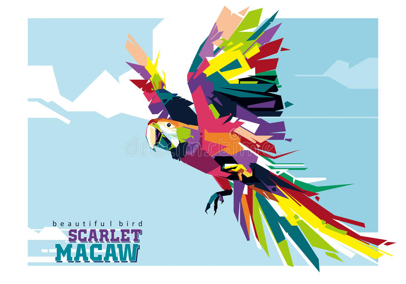 Scarlet Macaw vector illustration
