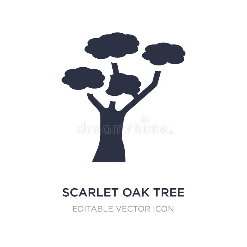 scarlet oak tree icon on white background. Simple element illustration from Nature concept royalty free illustration