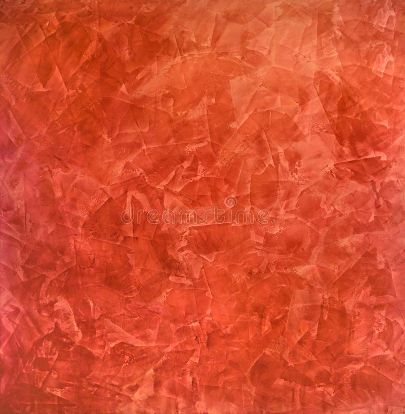 Download Scarlet, Red Background Of Smears   Venetian Plaster, Decorative  Coating For Walls Stock