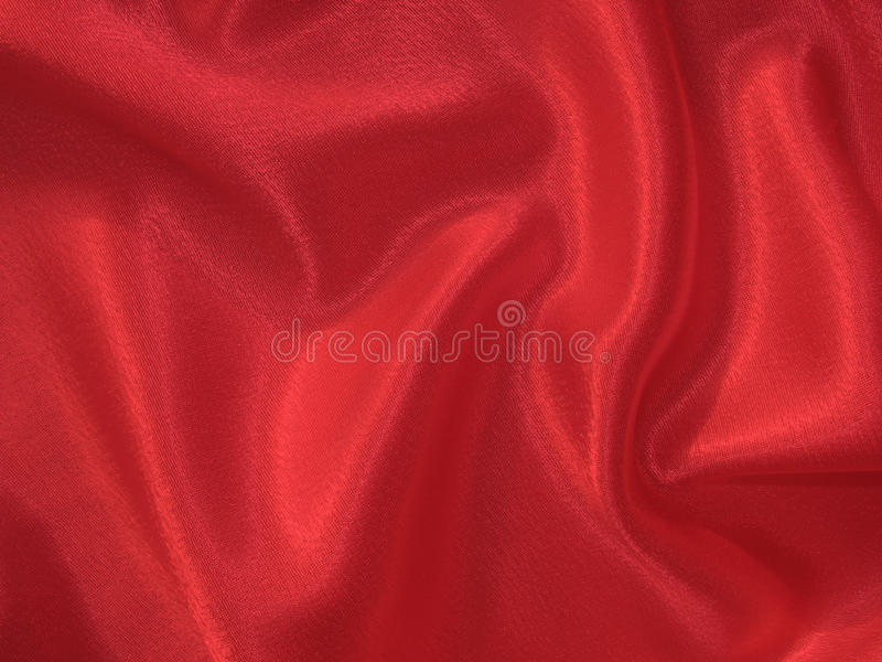 Scarlet (red) silk background stock photography