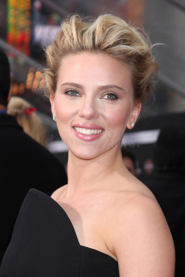 Scarlett Johansson imagen de archivo libre de regalías
